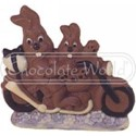 Chocolate World Figure Mould - H883 - Rabbits in a Car - 208mm - 1/1 - Easter …more info…